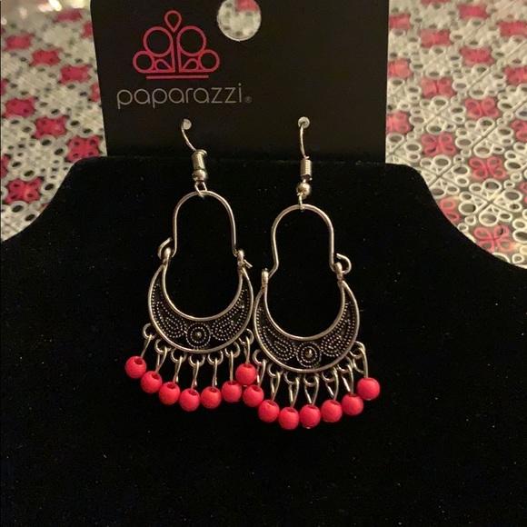 Hopelessly Houston-pink earrings